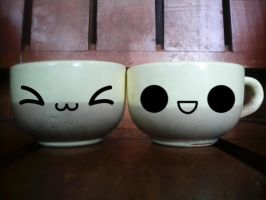 Cute Morning Tea Cups by denzleah