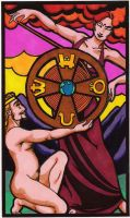 The Wheel of Fortune Tarot Card by YoungWitches