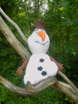 Olaf Relaxing on A Tree Branch by TheWizardofOzzy