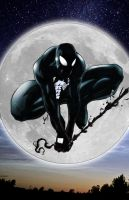 Symbiote Black Spiderman by commanderlewis