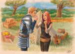 Grey Warden and Alistair by PiraWTH