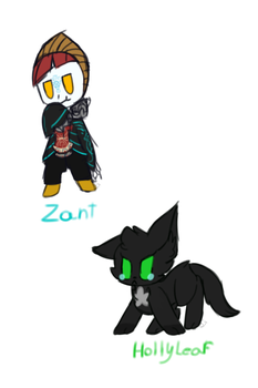 Zant and Hollyleaf by Spottedtail-Cat-Art