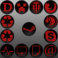 Icon Pack - Red by PolishXCII