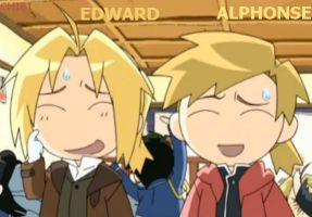 Chibi Edward and Alphonse Elric by Puffypaw