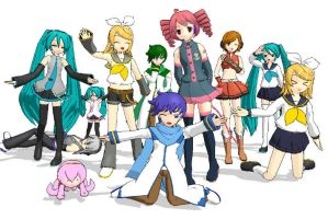 MMD Vocaloid Family owo by Hatsune-Chan