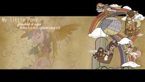 My Little Pony: FIM Steampunk Wallpaper by CLOUD1414