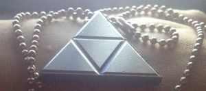 Triforce Necklace of Power by ToriFlame