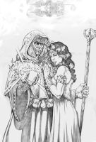 Raistlin and Crysania by wici
