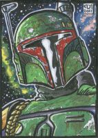 Boba Fett sketch card by Reznorix