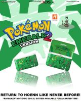 Pokemon Emerald 2 Limited Edition Nintendo 3DS XL by Chop-StiXz