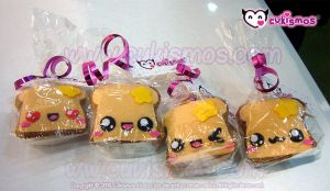 Cute Felt Keychain Toasts by Cukismos by Cukismo