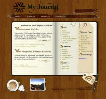 "wordpress theme ""my jurnal"" by Artfans"