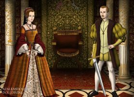 Queen Mary I and King Philip by MoonMaiden37
