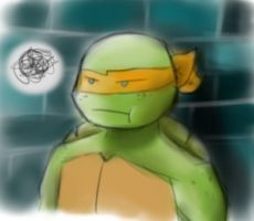 TMNT - Suddenly, Mikey.. by NinjaTertel