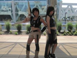 FFVII: Yuffie and Tifa by FalseHope819