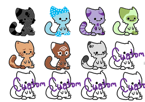 Chibi Kitty Adoption Sheet CLOSED by Guineapigwuv