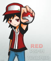 Pokemon Trainer Red by KuroiMamoru