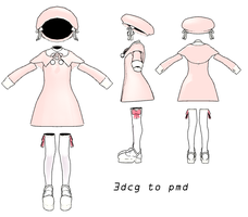MMD- Pink Child Set- DL by MMDFakewings18