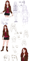 Sketch Dump 01 by eclecticmuse