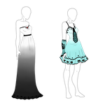 Outfit Auction - Lady Dresses - CLOSED by ShadowInkAdopts