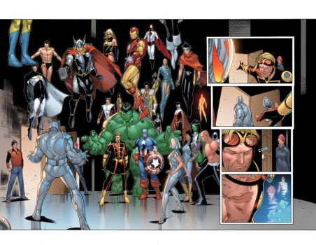 Mighty Avengers 36 p17-18 by JohnRauch