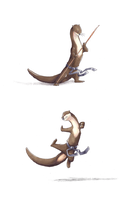 Karate Otters by Rebeccannoying
