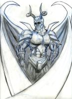 Demon Soldier with wings by CamT