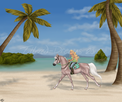 Sand and Sea by Tattered-Dreams