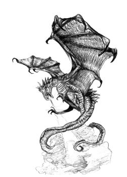 Dragon Tattoo design by HimmeltheBlue