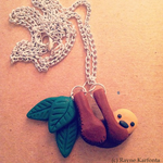 Lazy Sloth Necklace by zigidity