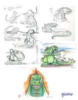 Godizilla Sketches 10 07 14 by stourangeau