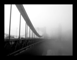 City in the fog by Kudlacz