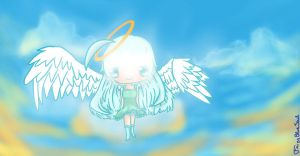 Angel In The Clouds by FairyBlueSoul