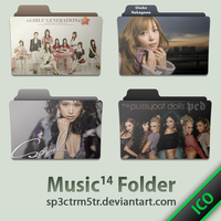 Music Folder 14 ICO by sp3ctrm5tr