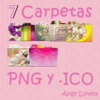 Pack 7 Carpetas PNG y .ICO by AngyLovely