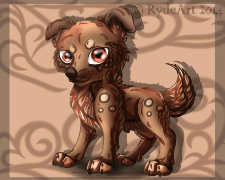 Wolf Chibi by TanaeArt