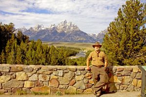 Me at Snake River Overlook by Kippenwolf