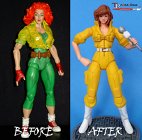 April O'Neil Classic Before and After by zelu1984