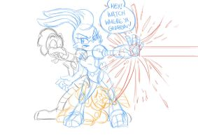 Bunnie, Grounder, and Scratch WIP by Chauvels