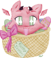 """Devil says """"Happy Easter"""" by Kezzi-Rose"""