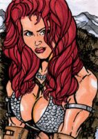 Red Sonja March of Dimes Card by mmunshaw