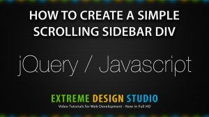 Create a Simple Scrolling Sidebar Box with jQuery by eds-danny