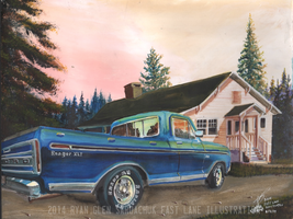 1974 Ford Ranger XLT Commission by FastLaneIllustration