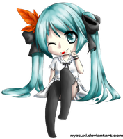 VOCALOID2 Hatsune Miku - World is mine by Nyatuxi