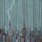 ...city...with lightning by andyvanoverberghe