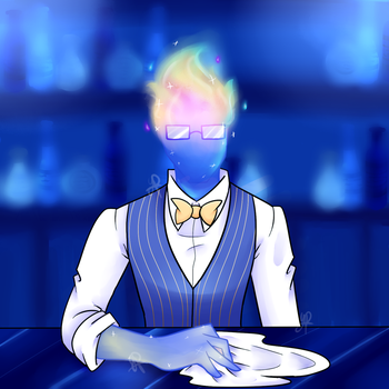 Undertale: Outertale!Grillby by YanderePrime