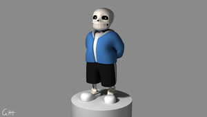 Sans 3D Model by skunkdude13