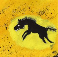 Hyena Cave Painting by Umwak