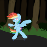 Skateboarding Rainbow Dash by bookfangeek