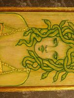 Medusa the Gorgon - Acrylic by enchantedgal